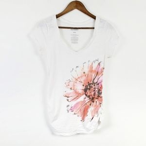 Old Navy Short Sleeve T-Shirt Floral M Cotton Top